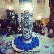 Evil Eye Candle & Oil-Wards Against & Removes the Evil Eye