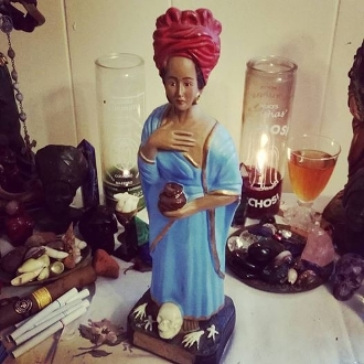 12 inch Marie Laveau Statue Set-Voodoo Queen of New Orleans