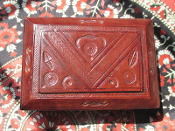 Leather Altar Box with Hoodoo Surprises-From Mali-Small-OOAK