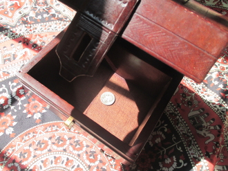 Leather Altar Box with Hoodoo Surprises-From Mali-OOAK
