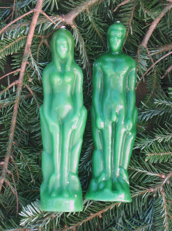 MALE-Green Figure Candle