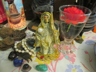 Money Santa Muerte-Holy Death-Grants Miracles,Good Fortune