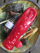 Mummy Candle and Oil Set-Messages, Power, Divination, Conjure