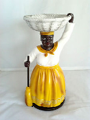 Yellow La Madama Statue with Oil, Incense, Charcoal