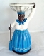 Blue Resin La Madama Statue with Oil and Altar Candle