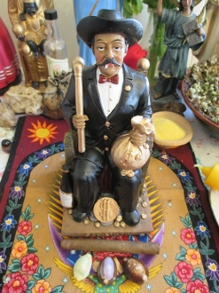 San Simon/Saint Maximon Statue Altar Set-Wealth, Protection