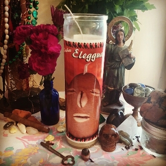 Eleggua Candle & Oil Set-Open Roads, Opportunity, Success, Luck