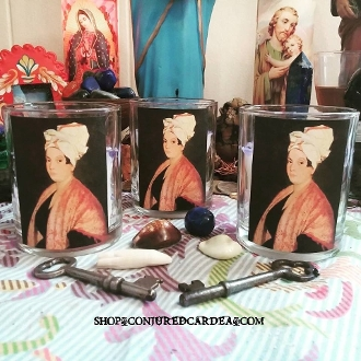 Marie Laveau Candle-Voodoo Queen-Love, Luck, Money, Power
