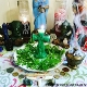 Green Crucifix Candle-Prosperity, Success, Fertility, Luck,Sales