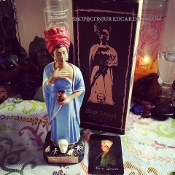 Marie Laveau Statue Set-Voodoo Queen-Love, Luck, Money, Power
