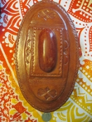 Leather Altar Box with Hoodoo Surprises-From Mali