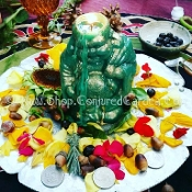 Lucky Buddha CANDLE ONLY-Luck,Employment,Prosperity