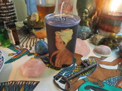 Marie Laveau Vigil Candle-Voodoo Queen-Love, Luck, Money, Power