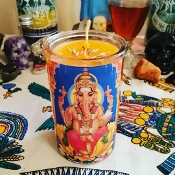 Ganesh Devotional Candle-Removes Obstacles, Draws Opportunity