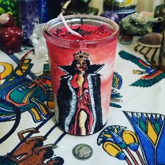 Pomba Gira Devotional Candle-Messages,Communication, Protection