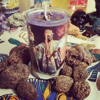 High John Devotional Candle-Luck, Success, Power, Prosperity