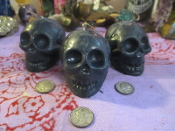 Set of 3 Mini Skull Candles-Samhain, Ancestors, Halloween