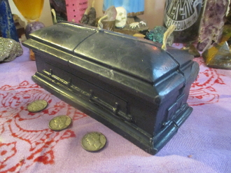 Coffin Candle-Halloween, Hex, Enemy, Death, Conjure, Samhain