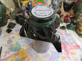 Separation Palm Oil Candle WITH Spell Instructions