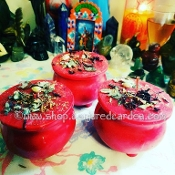 Venus' Hunny Luv Cauldron Candle-True Love, Healing, Self Love
