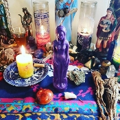 FEMALE-PURPLE Figure Candle-Clarity, Courage, Strength, Success