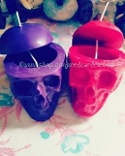 Purple Skull Candle Box-Compelling, Manifest, Bend Over