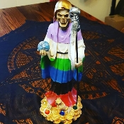 12 Inch Santa Muerte Altar Set-Miracles, Good Luck, Protection