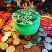 Cash Cauldron Candle-Manifest Cash, Income Streams, Wealth