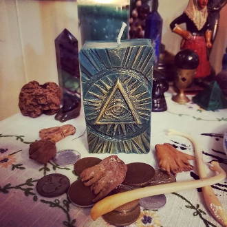 All-Seeing Eye Candle-Divine Success and Abundance